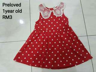 Baby girl red sleeveless dress
