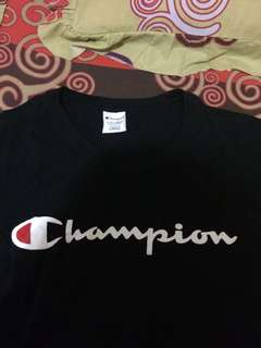 tee champion black original 100%