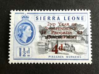 1963 Sierra Leone 4d stamps