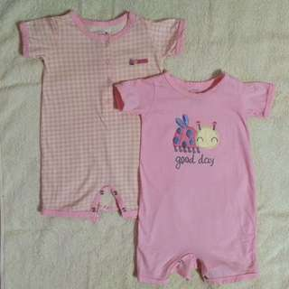 2 pink bodysuits (3-6 mos.)