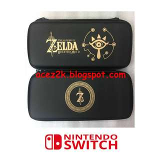 [BN] Nintendo Switch Zelda / Mario / Monster Hunter Deluxe Carrying Travel Case with 3 Cartridges Slots (Brand New)