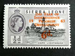 1963 Sierra Leone 6d stamps
