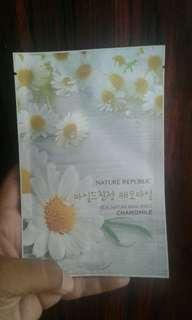 Sheet mask chamomile