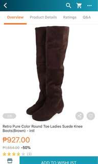 BNEW Knee high brown suede boots