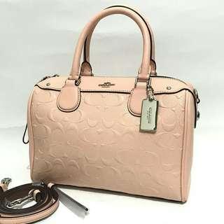 Coach mini Bennett sz 23x15 Debossed Light Pink