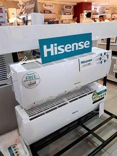 New HISENSE Inverter Split Type Aircon FREE Installation