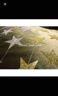 4m glitter star garland