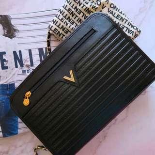 Vintage Valentino 中古黑色多用途手袋(送金鏈)