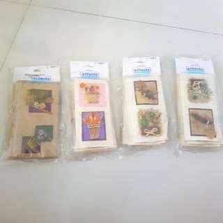 Scrapbooking craft - dried flower sheet embellishment