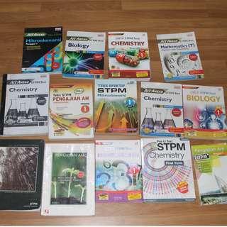 STPM SEM 1 , SEM 2, SEM 3 REFRENCE BOOKS