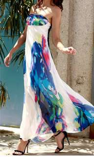 New strapless ankle lenght maxi dress