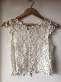 H&M lace crop top