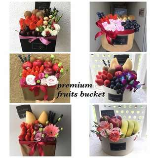 Premium Fruit Bucket Bouquet