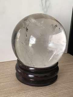 White crystal sphere 白水晶球