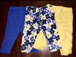 Mothercare set of 3 leggings