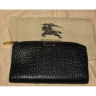 Burberry Signature Grain Leather CONTINENTAL Wallet Porter Black