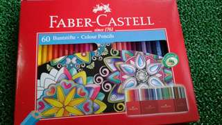 Faber castell 60 buntstife colour pencils