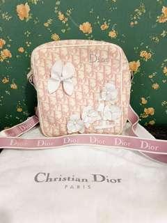 Vintage Christian Dior Pink Logo Cross Body Bag