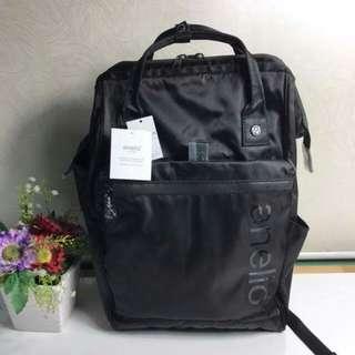 FREE SHIP Anello Bag Nylon school backpack back pack black
