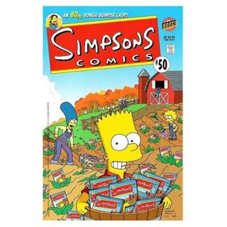 Simpsons Comics #50 (August 2000) - An 80-page Bongo Bumper Crop! Celebrates 50 issues of the Simpsons