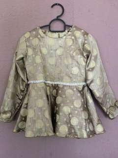 Brocade Peplum for Kids