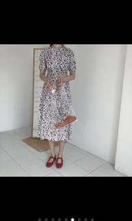 復古長洋裝