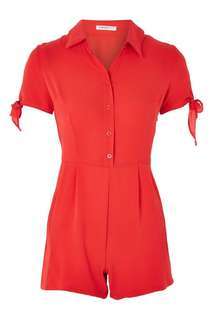 Glamorous Petite Button Front Playsuit