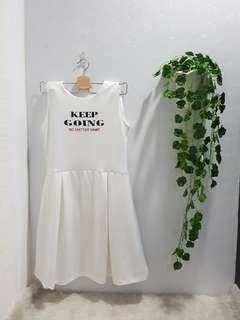 NEW Dress putih keep going