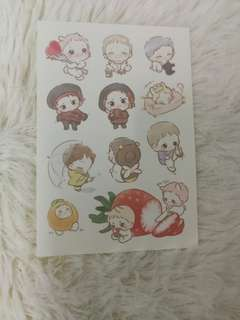 EXO Oreobabe strawberry sticker
