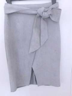 White closet suede skirt size 8
