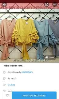 Reprice! Ribbon Top Pink