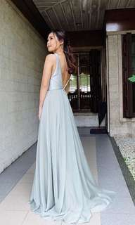 Silver Gray Gown (RENT)
