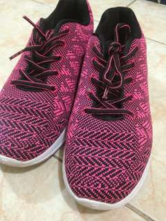 FILA Pink and Black Trainer Shoes