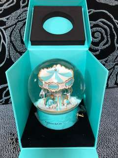 TIFFANY AND CO - Musical Carousell Snow Globe