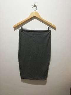 COTTON ON gray pencil skirt