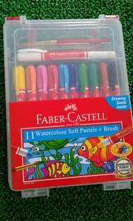 Faber castell 11 water colour soft pastels + brush