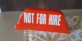 Taxi Not For Hire Signage
