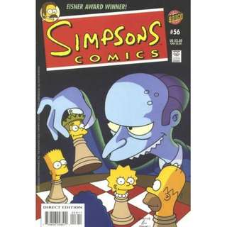 Simpsons Comics #56 (March 2001) - The Yes-Man Who Would Be King: The throne of Sweden is empty, left without a king to lead. The search for a new monarch need look no further than Springfield, for the heir apparent is apparently...