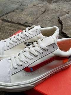 Sepatu vans old skoo x off white style 36