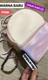 Charles & Keith Backpack Holo Pink