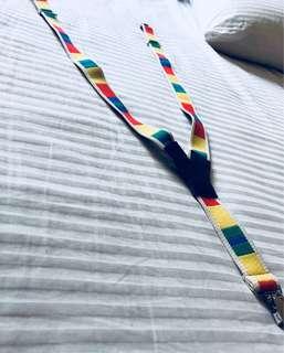 Multi-coloured suspender