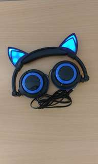 LED Neko/Cat headphones blue