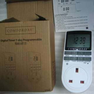 Digital Timer Plug for 7 days a week cycle (Programmable to set ON time and Off time)