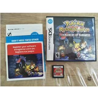 NDS Pokémon Mystery Dungeon: Explorers of Darkness