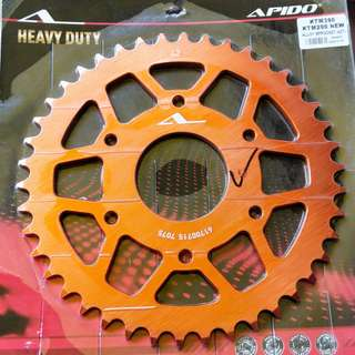 Rear sprocket for KTM