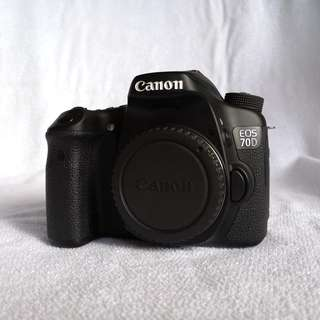Canon eos 70d body - 99% like NEW (sc 19k only)