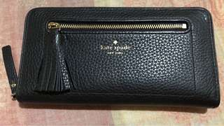 Kate spade crossgrain leather wallet