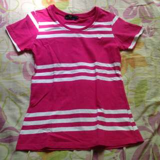 Pink Fred Perry Stripes Shirt