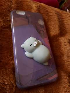 Iphone 6/6s case with squishy cat