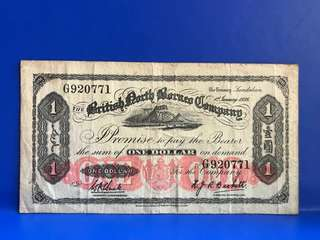 One Dollar North Borneo Company Year 1936